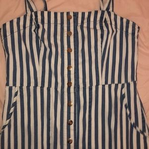Blue and white striped dress.  Forever 21